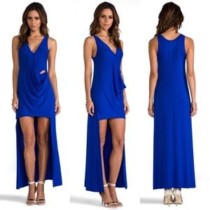 Blue Life High Low Maxi Midi Cut Out Wrap Dress
